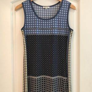 Max Studio Maxi Dress Navy Print Summer